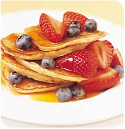 Fluffy, fruity pancakes from United Methodeviationss blog